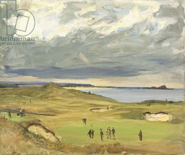 The Golf Links, North Berwick, 1919 (oil on canvas)