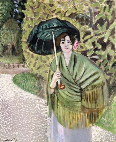 Woman with a Green Sunshade, 1920 (oil on canvas)