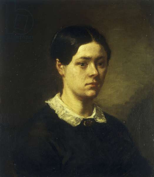Portrait of Madame J.F. Millet, c.1844 (oil on canvas)