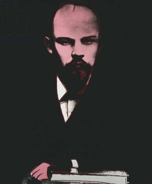 Lenin, 1986 (synthetic polymer and silkscreen inks on canvas)