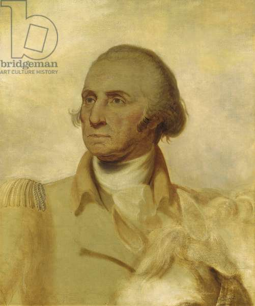 Sketch for a Portrait of George Washington (oil on canvas)