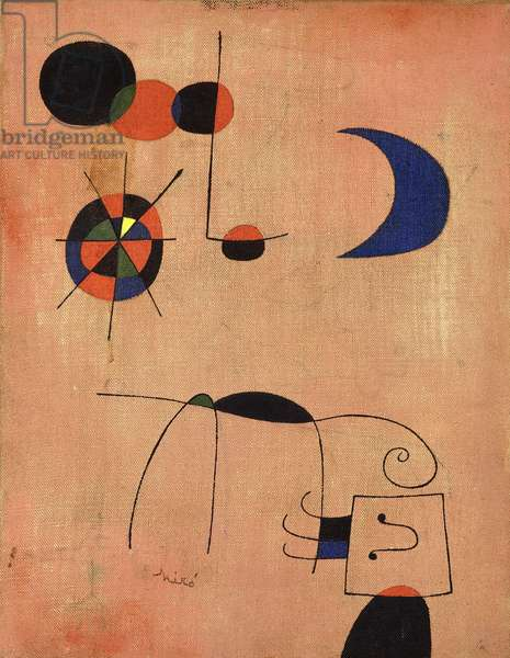 Composition with a Blue Moon, 1949 (oil on canvas)