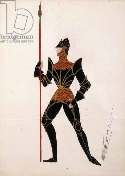 Black Knight, c.1950 (gouache, metallic paint)