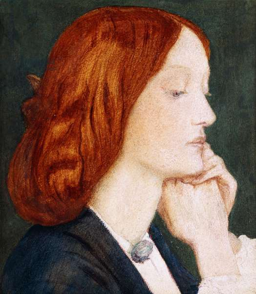 Portrait of Elizabeth Siddal, in Profile to the Right,  (watercolour)