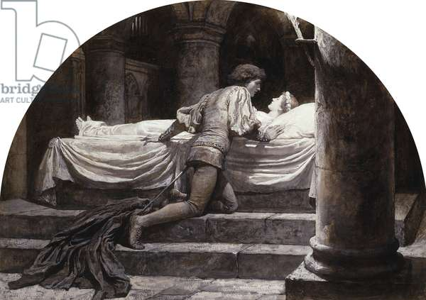 Scenes from Romeo and Juliet: The Tomb (V, III), 1882 (gouache, en grisaille)