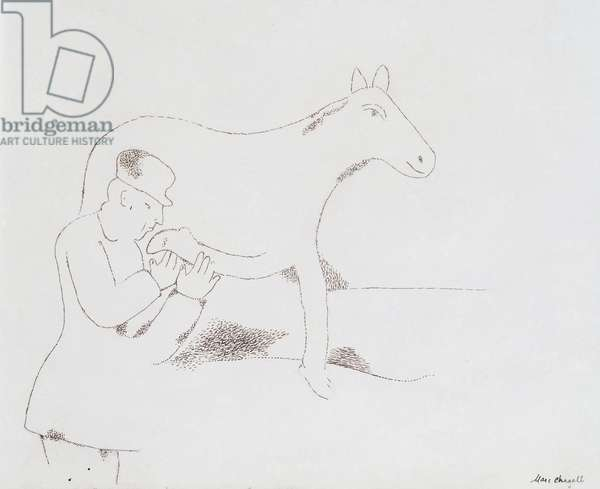 Character and Donkey  for Provincial Suite by Gustave Coquiot, 1922-23