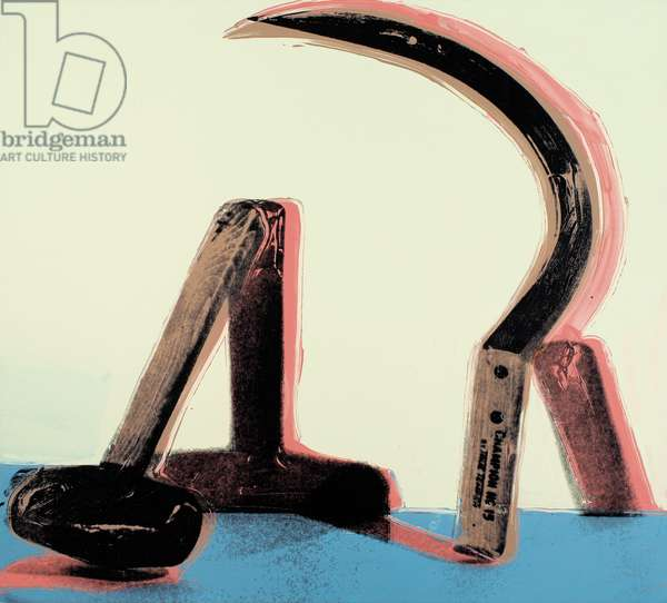 Hammer & Sickle, 1976 (synthetic polymer and silkscreen ink on canvas)