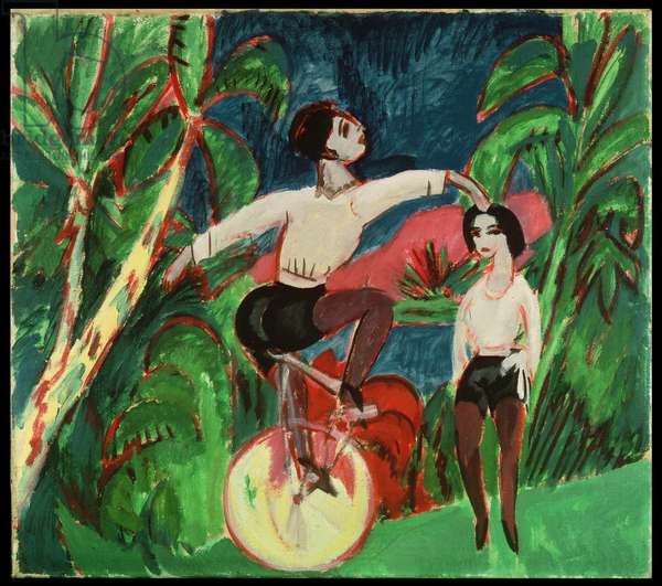 Unicycle Rider, 1911 (oil on canvas)