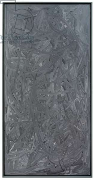 In-painting (Grey); Vermalung (grau), 1972 (oil on canvas)