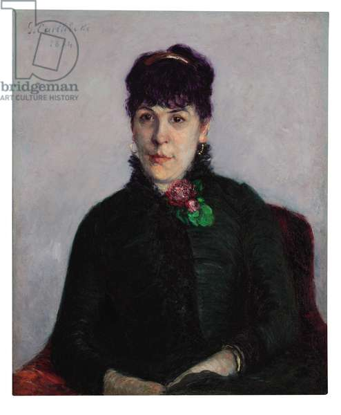 Woman with a Rose, 1884 (oil on canvas)