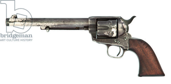 .44-40 'Model 1873' six-shot single-action Army revolver, by Colt, Hartford, 1881 (walnut & nickel-plated metal)