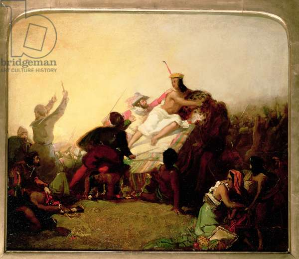 Pizarro seizing the Inca of Peru, c.1846