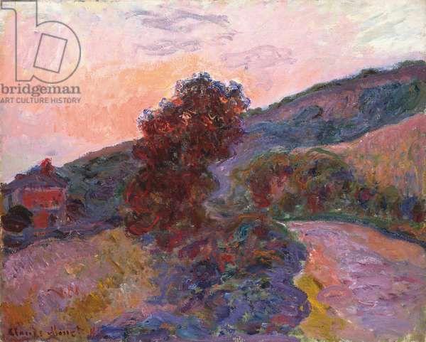 Coucher de soleil à Giverny, 1886 (oil on canvas)