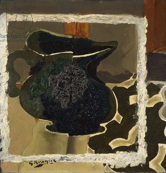 The Green Pitcher; Le Pichet Vert, 1943-55 (oil and soil on canvas)