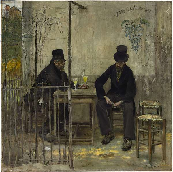 The Absinthe Drinkers (Les Declasses), 1881 (oil on canvas)