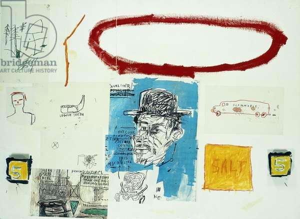 A Next, 1984 (acrylic, coloured oilsticks, glue, coloured xerox, and wood coll)