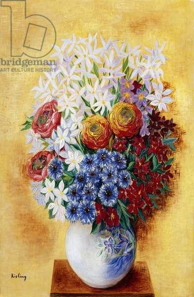 Bouquet of Flowers Against a Yellow Background; Bouquet au Fleurs sur Fond jaune, c.1934 (oil on canvas)