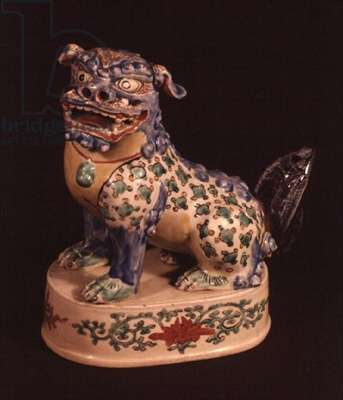 Kakiemon figure of a Buddhistic lion (ceramic)