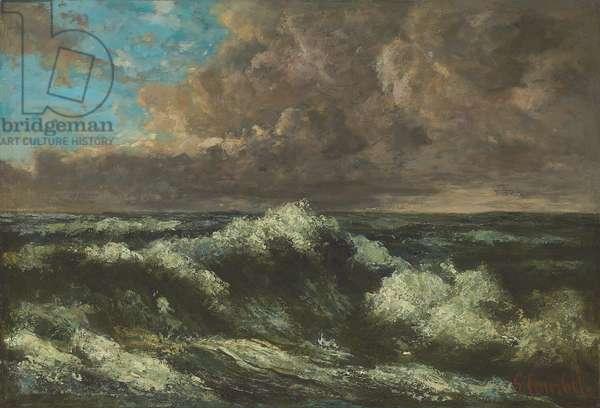 Seascape; Paysage de mer, c.1870 (oil on paper on panel)