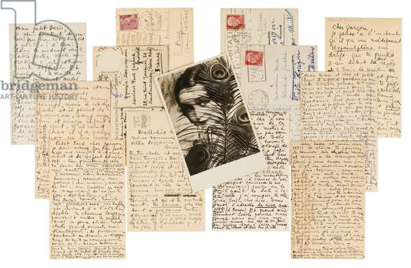 Thirteen autograph postcards sent to Paul Éluard and Salvador Dalí, c.1937 (postcards)