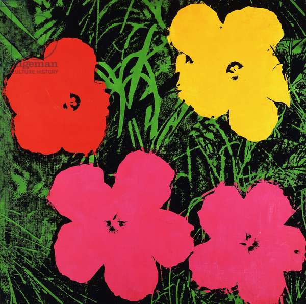 Two Foot Flowers, 1964 (silkscreen inks and synthetic polymer on canvas)