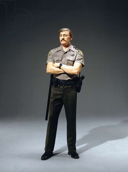 Policeman, 1993 (autobody filler, fiberglas and paint with accessories)