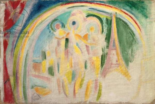 The Three Graces, study for 'La Ville de Paris', c.1911-1912 (oil on canvas)