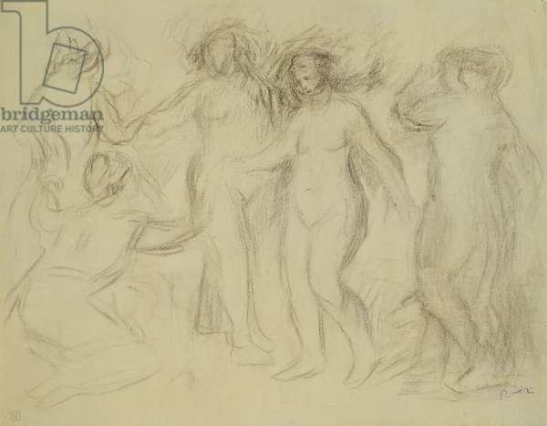 Study for the Judgement of Paris; Etude pour Le Jugement de Paris, (soft pencil on paper)
