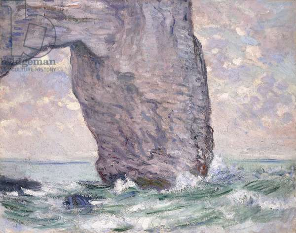 The Manneporte seen from Below, 1883 (oil on canvas)