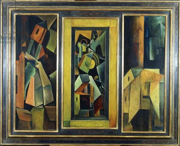 Mobelbemalung, 1914 (oil on three panels)