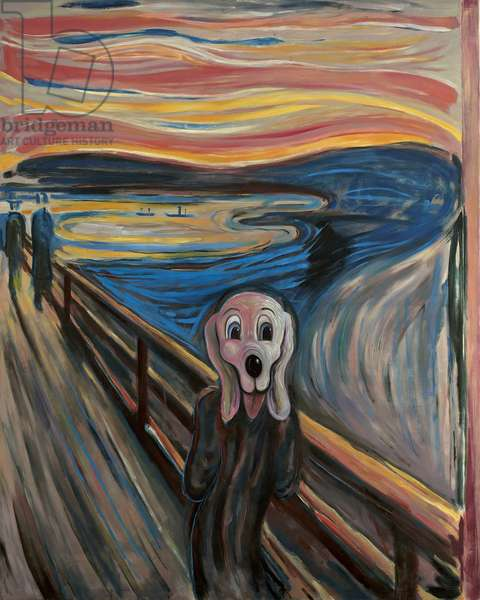 The Whimper, 2006 (oil on found canvas)