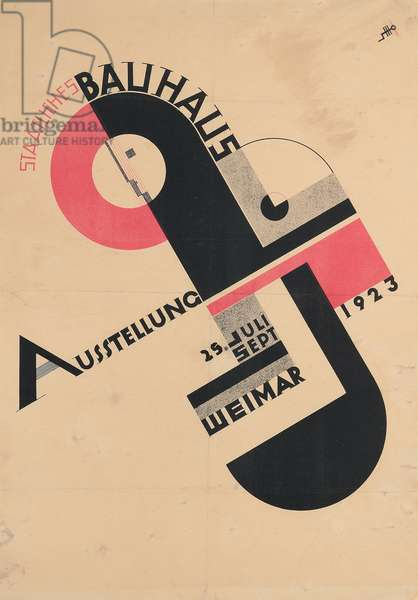 Poster for the 1923 State Bauhaus Exhibition, 1923 (colour lithograph)