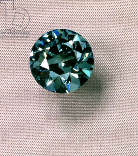 Natural blue 6.74 ct. diamond, possibly recut from the famous Tavernier blue diamond (diamond)