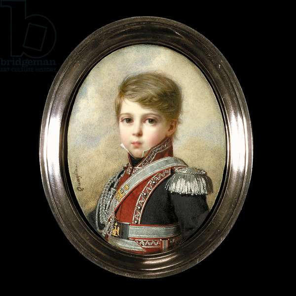 Portrait of Napoleon-Andoche D'Abrantes as a Young Boy (w/c on ivory)