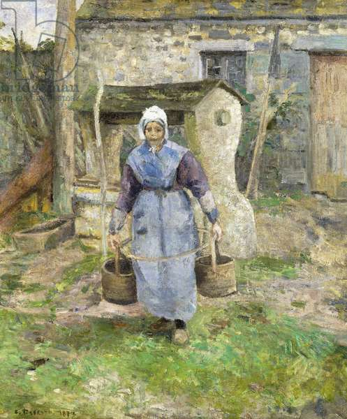 Mother Presle, Montfoucault; La Mere Presle, Montfoucault, 1874 (oil on canvas)