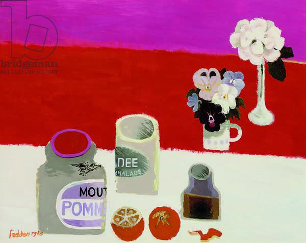 Red Still Life, 1988 (oil on board)