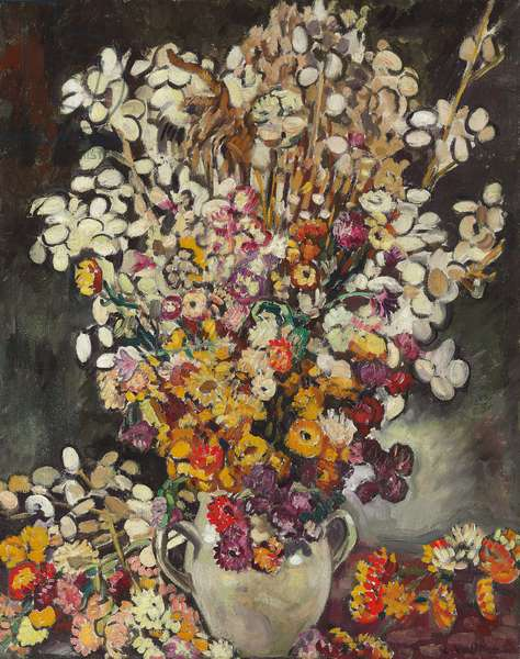 Flower Bouquet, 1927 (oil on canvas)