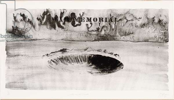 Crater with Smoke, from Five War Memorials, 1970 (litho)