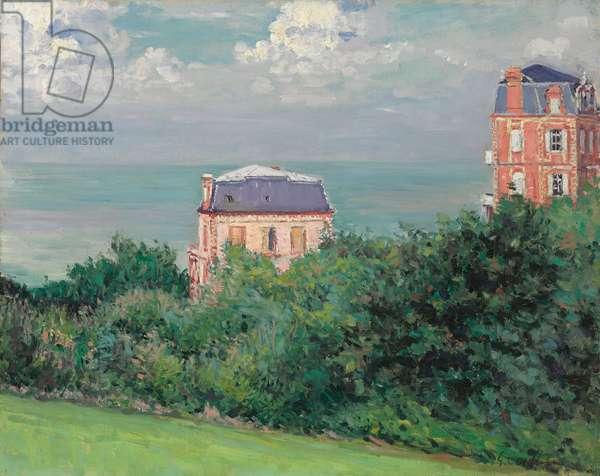 Villas at Villers-sur-Mer, 1880 (oil on canvas)