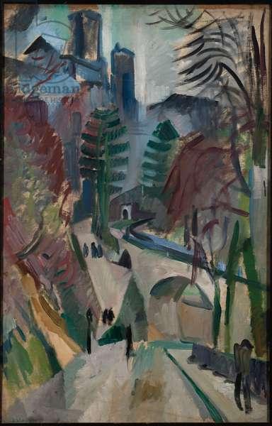 Laon Landscape, 1912 (oil on canvas)