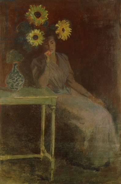 Suzanne with Sunflowers; Suzanne aux Soleils, c.1889 (oil on canvas)