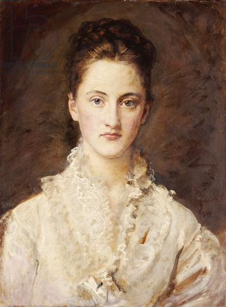 Portrait of the Artist's Daughter, Mary, half length, 1875-76 (oil on canvas)