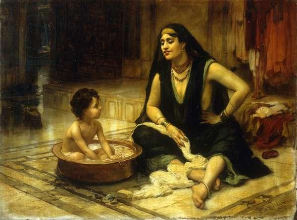 Fellahin and Child (oil on canvas)