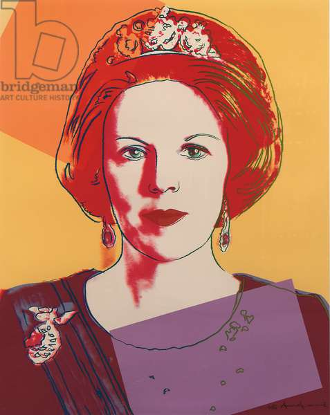 Queen Beatrix of the Netherlands, from 'Reigning Queens', 1985 (screenprint) (see also 701269-71)