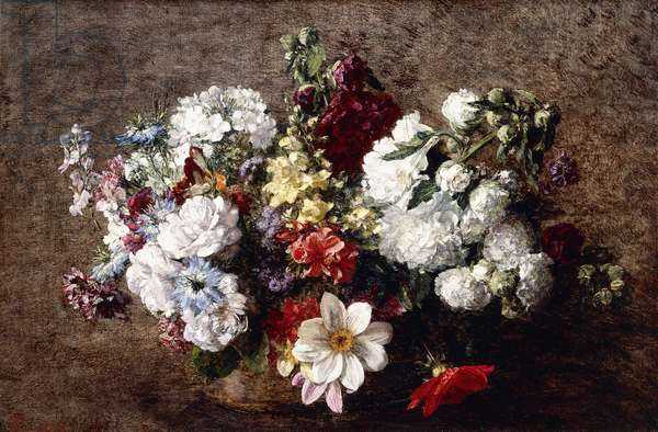 Mixed Bouquet (Garden Flowers), 1882 (oil on canvas)