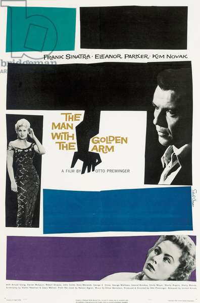 Poster advertising 'The Man With The Golden Arm', 1955 (colour litho)