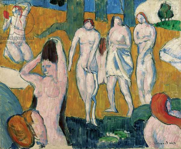 Bathers, 1889 (oil on canvas)
