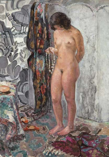 Standing Nude with a Necklace, c. 1923 (oil on canvas)