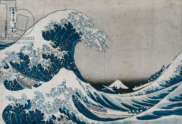 The Great Wave off Kanagawa, from the series '36 Views of Mt.Fuji' ('Fugaku sanjuokkei') (colour woodblock print)