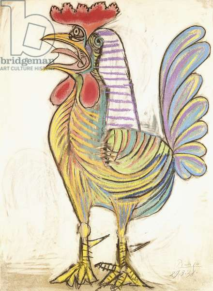 The Cock, 1938 (pastel on paper)